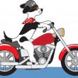 Dog Motorcycle — Stockvektor