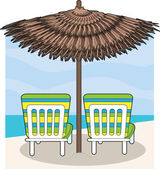 Beach Chairs — Stock Vector