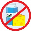 Stock Vector: No Dairy