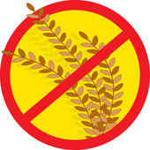 No Wheat — Stock Vector