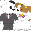 Royalty-Free Stock Vector Image: Cute Puppy Marriage
