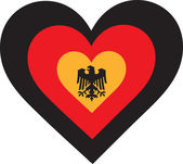 Germany Heart — Stock Vector