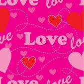 Love Seamless — Stock Vector