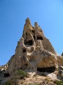 Ancient cave city in Goreme, Cappadocia, Turkey — Stock Photo