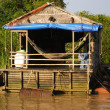 Floating House on the Tonle Sap lake, near Angkor and Siem reap, Cambodia — Stock Photo