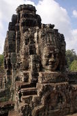 Ancient Bayon temple in Angkor , Cambodia — Stock Photo