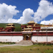 Buddist Monastery in Litang, Tibet, China — Stockfoto