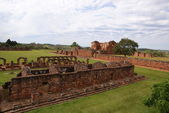 Jesuit mission Ruins in Trinidad Paraguay — Stock Photo