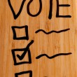 Stock Photo: Vote on Dry Erase Board
