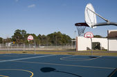 School basketball platform — Stock Photo