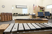 Band Room at Elementary School — Stock Photo