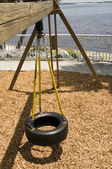 View of Tire Swing in Park — Stock Photo