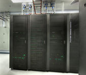 HDR of Server Room — Stock Photo