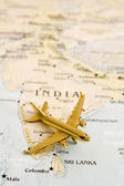 Plane Over India — Stock Photo