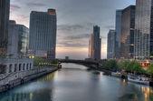 Chicago temprano en la mañana — Foto de Stock