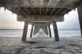 Hdr auf tybee strandpromenade — Stockfoto