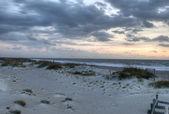 在 georiga 的苔碧海滩 — 图库照片