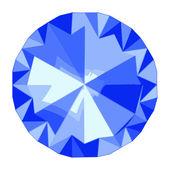 The Blue diamond — Stock Vector