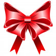 Stock Photo: Bright red bow