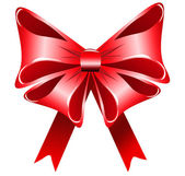 Bright red bow — Stock Photo