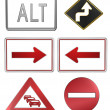 Road signs - Stok fotoraf