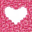 Heart shaped rose frame — Stock Photo #8608067
