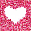 Royalty-Free Stock Photo: Heart shaped rose frame