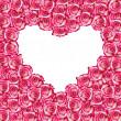 Heart shaped rose frame — Stock Photo
