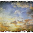 Grunge Landscape with clouds — Photo