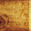 Royalty-Free Stock Photo: Music background with rose