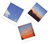 Collection of polaroid images — Stock Photo