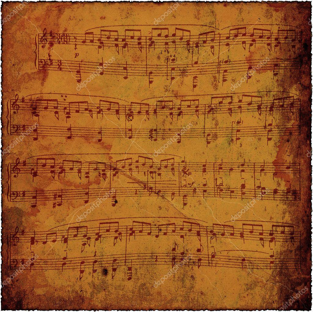 Antique Sheet Music Wallpaper Old Sheet Music Background