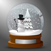 Snow globe — Vector de stock