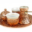 Turkish coffee set — Stockfoto