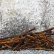 Stock Photo: Old rusty nails