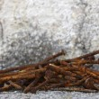 Old rusty nails — Stock Photo