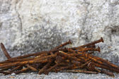 Old rusty nails — Foto Stock