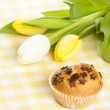 Home baked muffin — Stock Photo