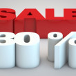 Stock Photo: Sale - price reduction of 30 percent