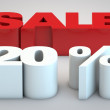 Stock Photo: Sale - price reduction of 20 percent