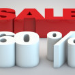 Stock Photo: Sale - price reduction of 60 percent