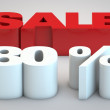 Stock Photo: Sale - price reduction of 80 percent