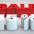 Stock Photo: Sale - price reduction of 15 percent