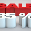 Stock Photo: Sale - price reduction of 35 percent