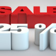 Stock Photo: Sale - price reduction of 25 percent