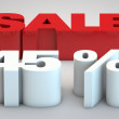Stock Photo: Sale - price reduction of 45 percent