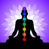 Yogi with chakras — Stock Vector