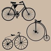 Vintage bicycles — Stock Vector