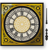Quadrant of victorian clock with lancets — Vettoriale Stock