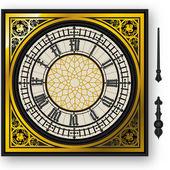 Quadrante di orologio vittoriano con lancette pungidito — Vettoriale Stock